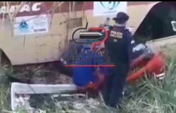 Vídeo! Operador de máquinado DER morre após rolo pneumático cair em ribanceira
