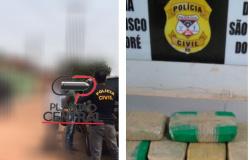 Ação conjunta da Polícia Cívil e Polícia Militar prende responsável por transporte de drogas na Operação HELA