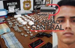 Polícia Cívil desmantela laboratório de droga avaliado em 40 mil reais e prende traficante com arma de fogo