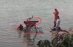 Casal que estava as margens do Rio Machado flagra momento em que mulher some nas águas do Rio Machado