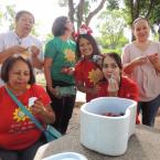 Girassol da Alegria visita Fundação Abrigo do Bom Jesus