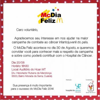 Reunião dos voluntários McDia Feliz 2014
