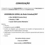 CONVOCAÇÃO ASSEMBLEIA REDE ESTADUAL