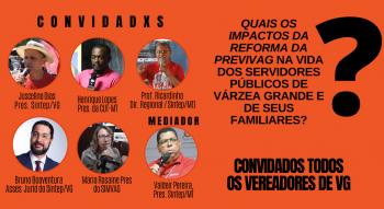Sintep/VG realiza LIVE sobre a Reforma da Previdência de VG
