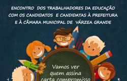 Categoria da educação quer ouvir os candidatos e as candidatas a prefeitura e a Câmara Municipal de em Várzea Grande