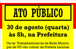ATO PÚBLICO - 30 DE AGOSTO