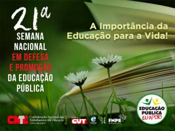 Acesse a programação da 21ª Semana Nacional em Defesa e Promoção da Educação Pública