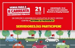 Fórum Sindical realiza 2ª carreata contra a Reforma da Previdência nesta terça-feira (21)