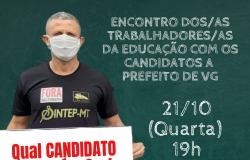 Sintep/VG realiza Encontro com candidatos a prefeitos em VG