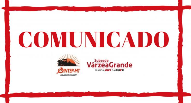 SINTEP/VG COMUNICA SUSPENSÃO DE ATIVIDADES PRESENCIAIS