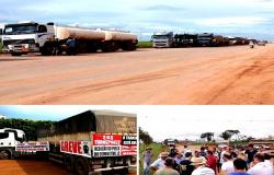 Caminhoneiros e transportadores voltam a bloquear BR-163 em Mato Grosso