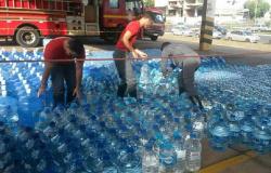 Termina hoje campanha dos bombeiros para arrecadar água para  vítimas de tragédia em Mariana (MG)