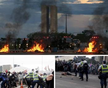 Brasília virou campo de guerra após PEC 55 ser aprovada pelo Senado