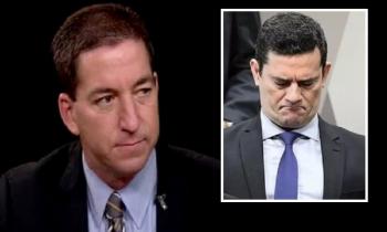 Gleen Greenwaldo, do The Intercept: revelações vazadas da Lava Jato detonam Sérgio Moro, que no olho do furacão, viu sua aprovação despencar 10 pontos em menos de uma semana (Fotos:Reprodução/Arq.Web)