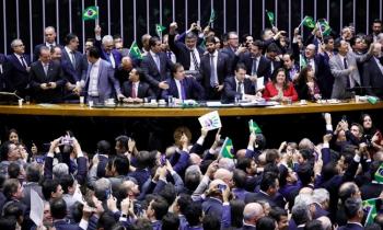 Plenário da Câmara Federal: apenas os partidos de esquerda, PT, PCdoB, PSol fecharam questão e votaram 100% contra a reforma da previdência (Foto:Ascom Câmara)