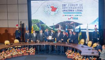 Governador Mauro Mendes participou do Fórum dos Governadores em Belém do Pará (Foto: Jader Paes/ Agência Pará)
