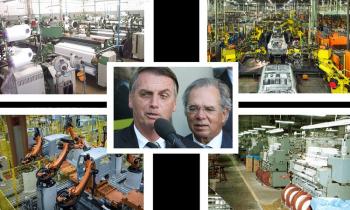 A desindustrialização do Brasil se acelera com Bolsonaro e Quedes destruindo o mercado interno (Fotos:Arq.Web/Repoduções)