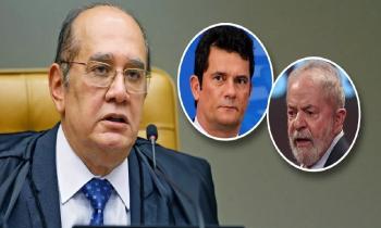 Gilmar Mendes diz que suspeição de Sérgio Moro não será mudada pelo STF e que Lula pode pedir idenização por tger sido preso injustamente (Fotos:Reuters-Ricardo Stuckert)