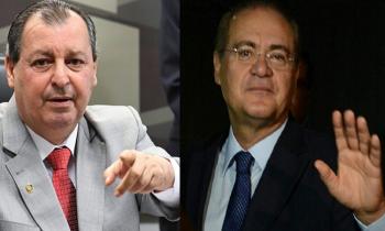 Os senadores Omar Aziz e Renan Calheiros vão comandar a CPI da Pandemia (ou do Genocídio) contra a vontade de Bolsonaro (Fotos:Arq.Web/Reprodução)