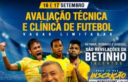 DESCOBRIDOR DE NEYMAR E ROBINHO REALIZA AVALIAÇÃO TÉCNICA EM  CUIABÁ - 16 e 17/09