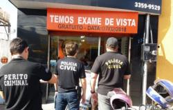 Operação conjunta interdita consultórios de óticas na Capital