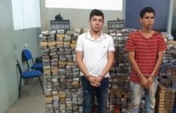 Trio é detido com 781 tabletes de maconha e veículo roubado