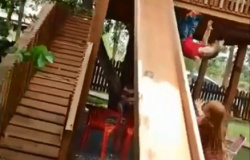 Criança salva bebê de queda de 3 metros de altura em MT; veja