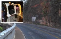 Policial perde controle de veículo e capota no Portão do Inferno