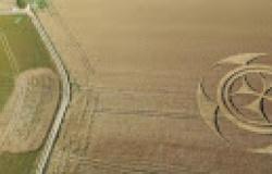 Símbolo gigantesco misterioso aparece em campo de trigo na França