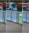 Vídeo mostra carro sendo esmagado entre 2 caminhões em VG