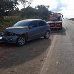 hauahuahauhauhauahhauhauahuahuahauhuMT-206: Motorista perde controle e se choca contra caminhão