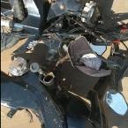 hauahuahauhauhauahhauhauahuahuahauhuAlta Floresta: Motocicleta se parte ao meio e condutor fica ferido