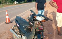CALRINDA: Motociclista tem fratura exposta em acidente entre moto e um caminhão na MT-208