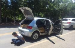 Polícia de MT intercepta veículo com carregamento de 514 tabletes de maconha