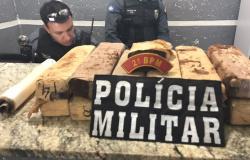 PMMT prende suspeito por tráfico e mais de 11kg de Maconha