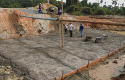 Alta Floresta: Sinfra Concluída base de concreto da Galeria do Boa Nova 3