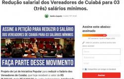 Petição online busca reduzir de R$ 15 mil para R$ 2,8 mil o salário dos vereadores