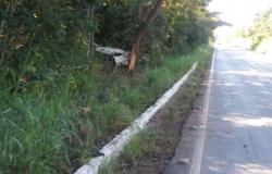 Um morre e três ficam feridos em acidente na estrada de Chapada