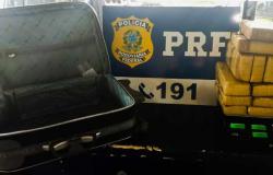 MT: Jovem de 17 anos é apreendido após ser flagrado pela PRF com 16Kg de maconha na mala