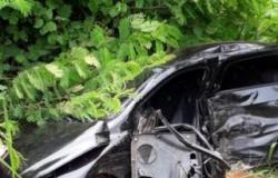 Carro cai em ribanceira e motorista fica ferido entre Matupá e Guarantã do Norte
