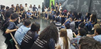 Projeto Arte do IFMT de Alta Floresta recebeu alunos da Escola Municipal Benjamin Padoa