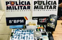 Polícia apreende mais de meio quilo de pasta base de cocaína em Alta Floresta