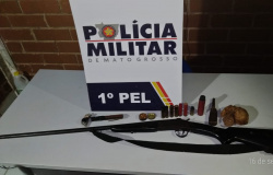 Apiacás: Após denúncia de disparos, PM detêm dois homens e apreende arma e munições
