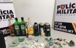 PM invade baile funk e prende 4 por venda de drogas e incitação ao crime em Sorriso