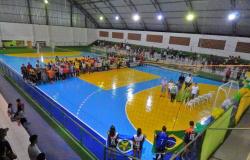 Solenidade marcou abertura da 3ª Copa Sicredi de Futsal em Nova Monte Verde