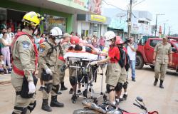 Nova Monte Verde: Com simulação de acidente os alunos do Projeto Bombeiros do Futuro realizam avaliação