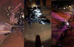 Quatro pessoas ficam feridas em acidente entre motos em Nova Monte Verde