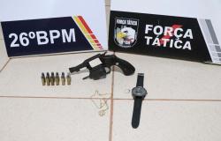 Nova Mutum: Força Tática prende 2 homens e apreende adolescente com arma de fogo