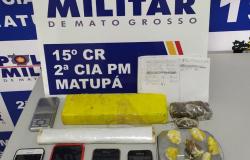 PM prende suspeito e apreende adolescente com drogas em Matupá