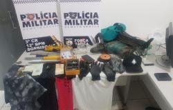 Polícia Militar prende quadrilha por furto à agência dos Correios em Marcelândia
